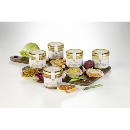 A range of five vegetable & black truffle spreads available!